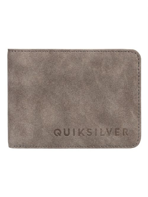 QUIKSILVER MENS WALLET.SLIM VINTAGE FAUX LEATHER BROWN MONEY CARD PURSE 8W 86 KS